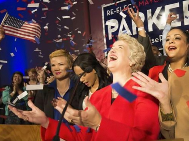 Mayor Annise Parker wins election November 2013