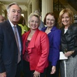Annise Parker, Kathy Hubbard, Barry Silverman, Shara Fryer at wedding reception March 2014