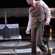Jay Sullivan as Merrick in the Alley Theatre's production of The Elephant Man