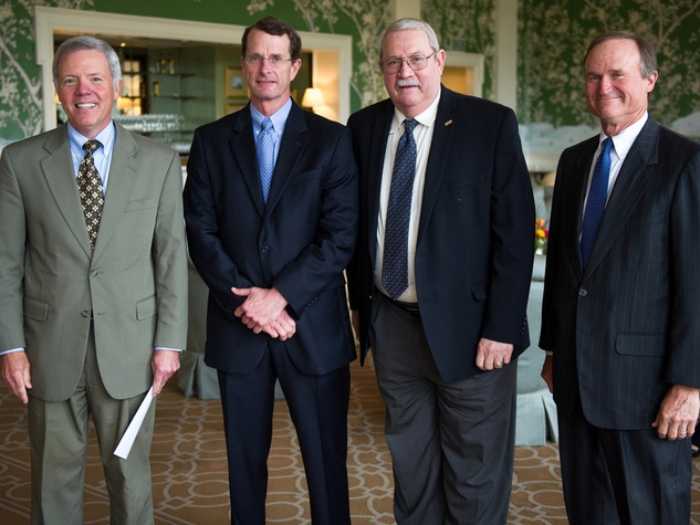 Les Cave, from left, David Doherty, Jeff Hamlin and Hunter Nelson at the Christus Health luncheon March 2014