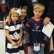 News, Shelby, Texans sidelines party, Nov. 2014 Jamey Rootes, Gabby Petersen, Gary Petersen, Margaux Petersen, Bella Petersen, Meyer Petersen