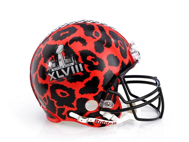 Diane von Furstenberg helmet for Bloomingdale's Fashion Touchdown