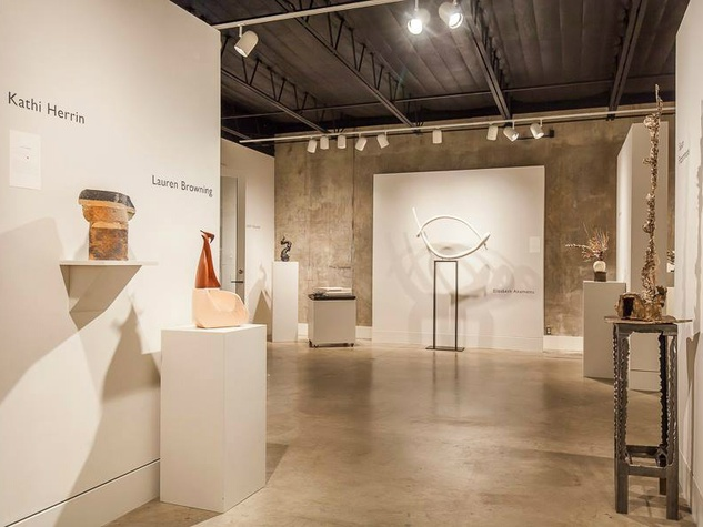 Gallery Shoal Creek Speaking Silence exhibit Texas Sculpture Group 2015