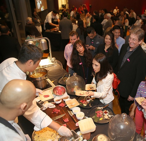 137 The crowd at the Asia Society Texas Center Kobe beef Cook-off December 2014
