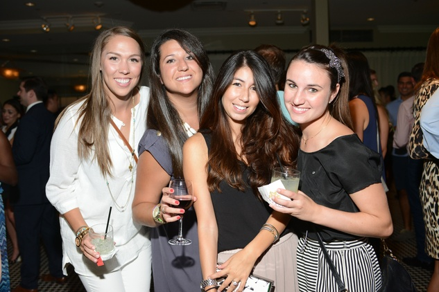 Disney Hanka, from left, Michelle O'Hara, Camila Cubero and Alex Richoux at the ZooZa Event at Hotel ZaZa August 2014
