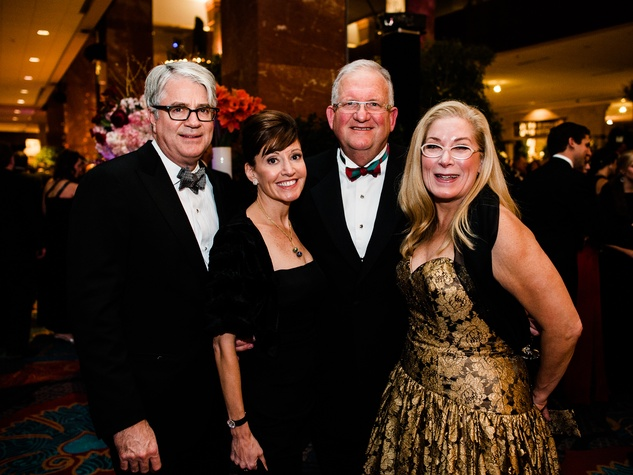 John Sughrue, Marlene Sughrue, Walter Evans, Candy Evans at Crystal Charity Ball 2013