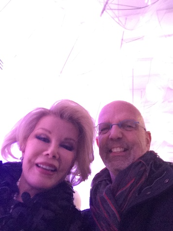 Joan Rivers Clifford Pugh at fashion week February 2014