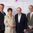 Douglas and Anna Marie Hildalgo, from left, Bob Newhart and Harold Hildalgo Sr. at the CHRISTUS Foundation for HealthCare spring luncheon April 2015