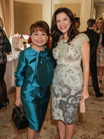 Rini Ziegler, left, and Alex Blair at the Passion for Fashion luncheon March 2014