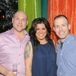 Brad Brandt, from left, Mandy Zuniga and Jason Whatley at the Q The Salon Moroccan theme party September 2013