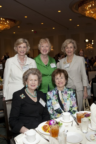 0236 Susan McMahan, from left, Letty Knapp, Marilyn Andrews, Bette Linbeck and Judy Britton at the Menninger Luncheon May 2014