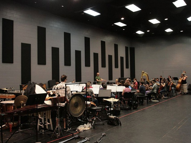 "The 35-piece orchestra for ""Titanic"" at Lyric Stage in Irving"