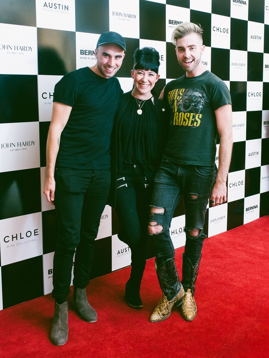 Austin Fashion Week 2016 red carpet Sean Kelly Michelle Lesniak Gunnar Deatherage