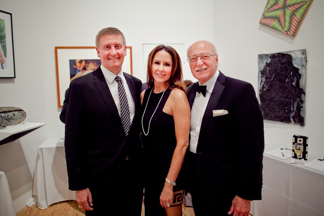 38 Tom and Liz Glanville, left, with Shafik Rifaat at the CAMH Gala March 2015
