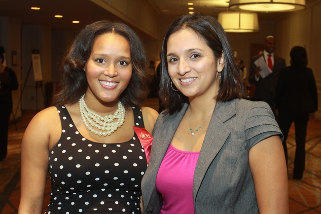 15 Crystal Ward, left, and Mikaela Mendez at the World AIDS Day luncheon.