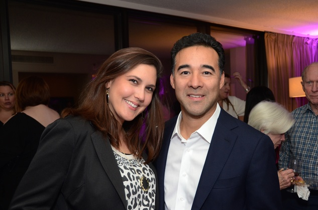 Hailey and John Delarosa at the Flavour launch at Hotel Derek February 2015