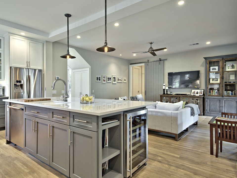 Brykerwoods Living Room And Kitchen Remodel   Kitchen Remodeling Austin Images