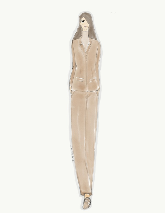 Noon by Noor inspiration sketch New York Fashion Week fall 2017