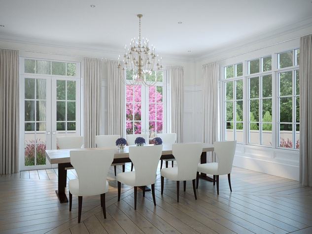 Houston, News, Shelby, Sudhoff Hampton Lane Collection, April 2015, 6018 Pine Forest - dining area
