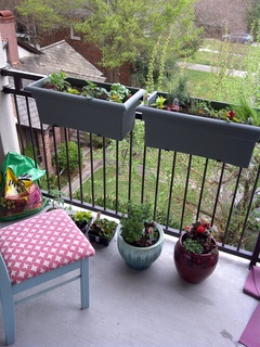 Apartment Balcony Herb Garden Image And Attic
