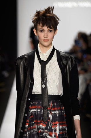 Carmen Marc Valvo punk schoolgirl look from fall 2015 collection