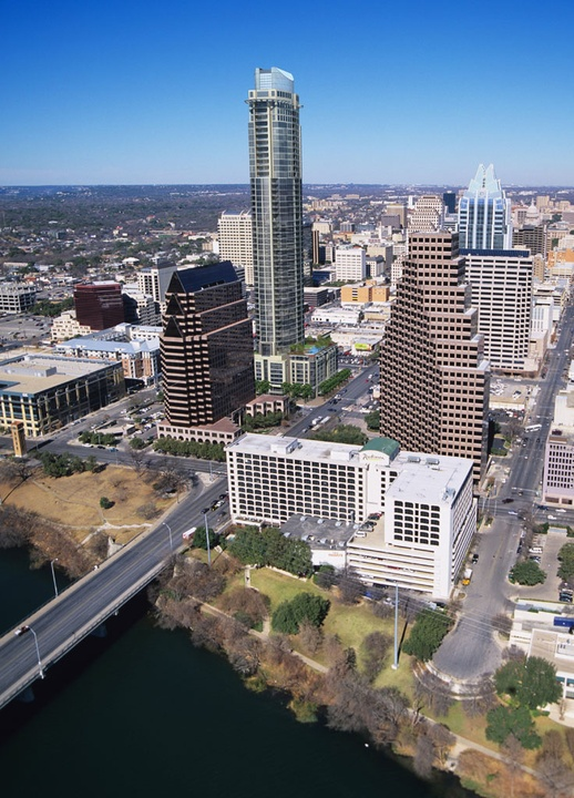 Austin skyline from above