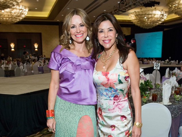 4 Lucinda Loya, left, and Erika Bagwell at the Latin Womens Initiative May 2014