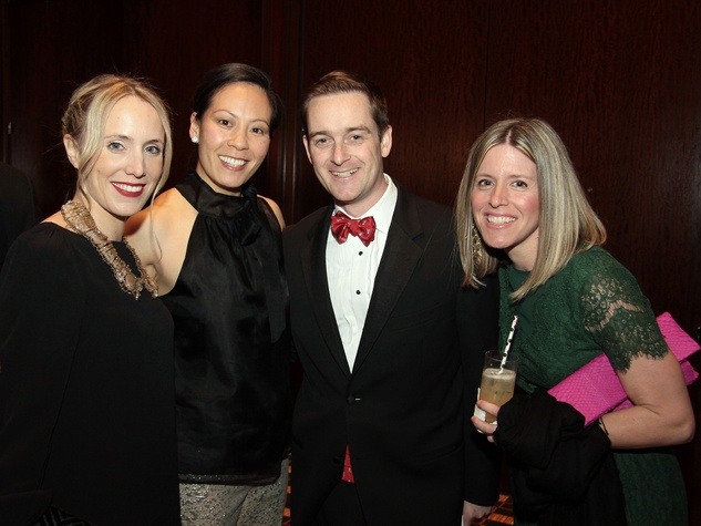 Christine Yates, from left, Ting and John Bresnahan and Kim Etheridge at West University Park Lovers Ball February 2014