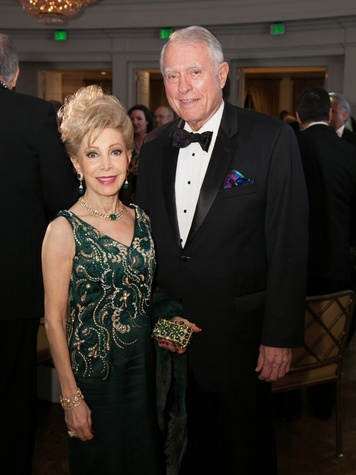 Margaret Alkek Williams and Jim Daniel at the University of St. Thomas Mardi Gras March 2014