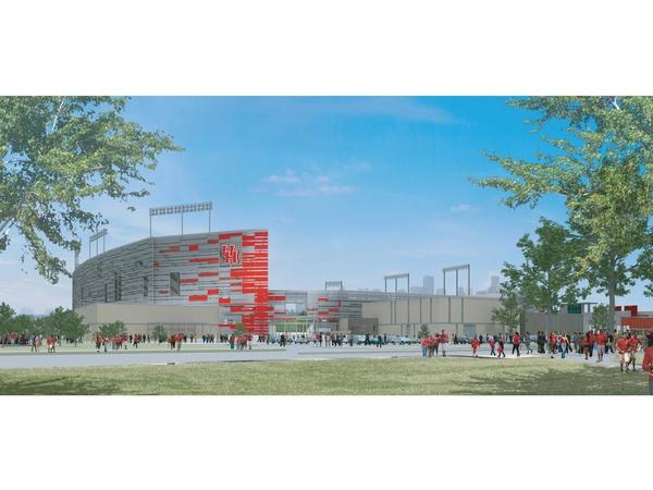 University of Houston, new football stadium rendering, December 2012, rendering