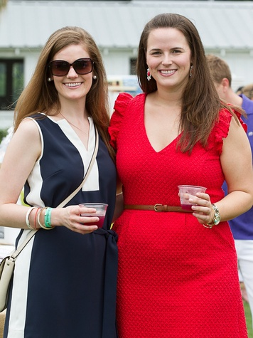2 Crossley Mears, left, and Stephanie Holstead at the Yellowstone Academy polo party April 2014