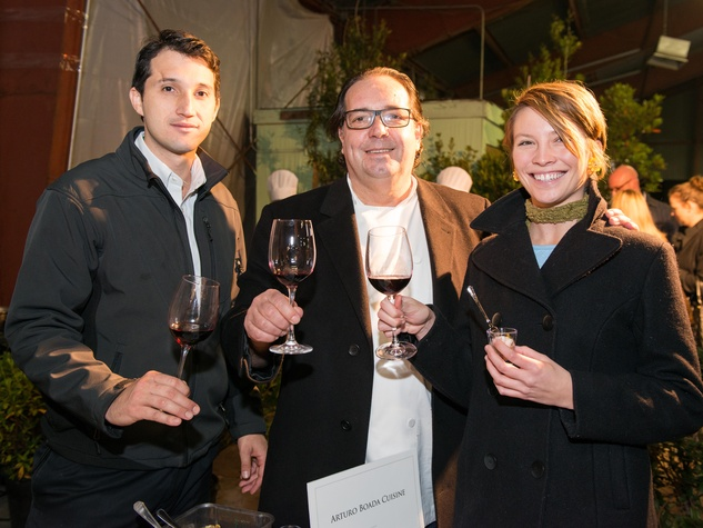 13 Camilo Boada, from left, Arturo Boada and Claire Holmes at the Houston Truffle Chef of the Year Challenge January 2015