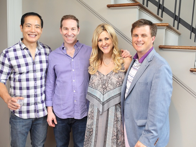 Miya Shay baby shower, 6/16Dr. Michael Chang, Dr. Eric Haas, Courtney Haas, and Corbett Parker.