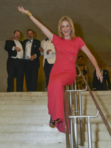 Elizabeth Petersen at Louvre gala June 2013