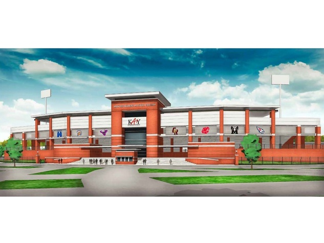 Katy stadium proposal front of stadium rendering October 2013