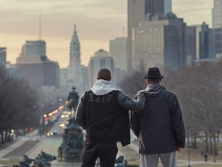 Michael B. Jordan and Sylvester Stallone in Creed