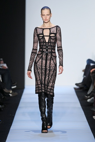 Herve Leger fall 2014 collection, look 3