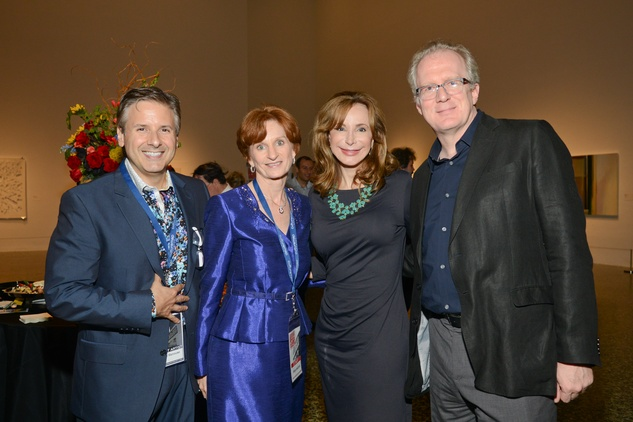 Ernie Manouse, from left, Trish Rigdon,  Sharon Adams and Tracy Letts at the Houston Cinema Arts Festival opening night party November 2013