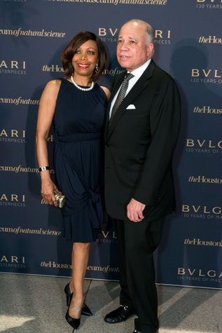 Lora and John Clemmons at the Bulgari exhibition dinner