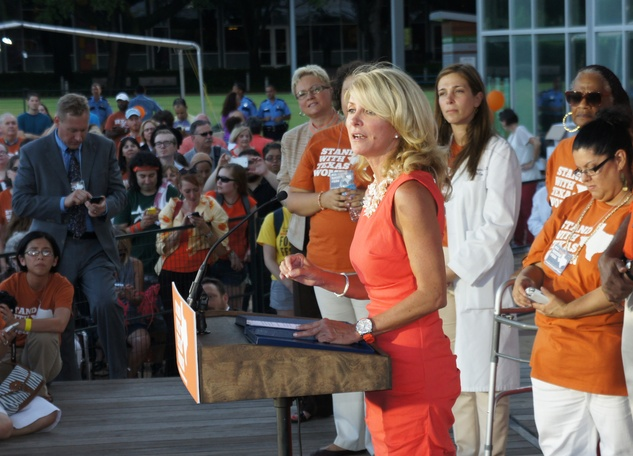 Stand With Texas Women Discovery Green Wendy Davis