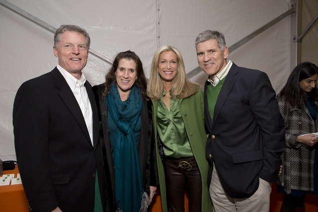 Steve and Kate Gibson, from left, and Janet and Paul Hobby  at the Memorial Park Conservancy benefit February 2015