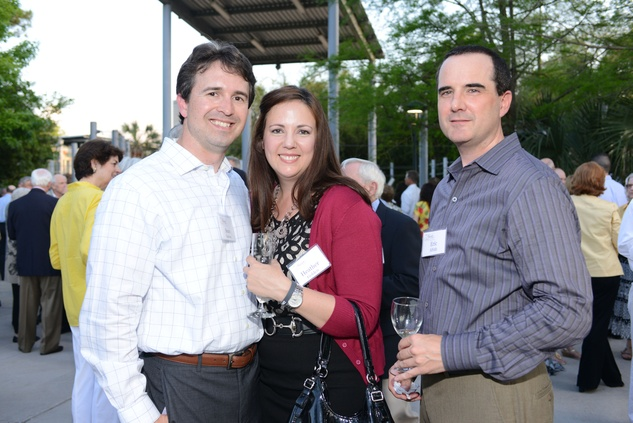 67 Sean and Heather Golden, from left, with Eric Alfuth at the Houston Zoo Asante Society dinner April 2014