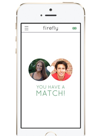 You Matched Screen from the Firefly dating app