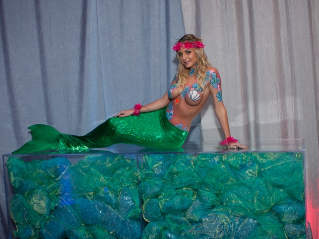 45 A mermaid at the Night Circus party January 2014