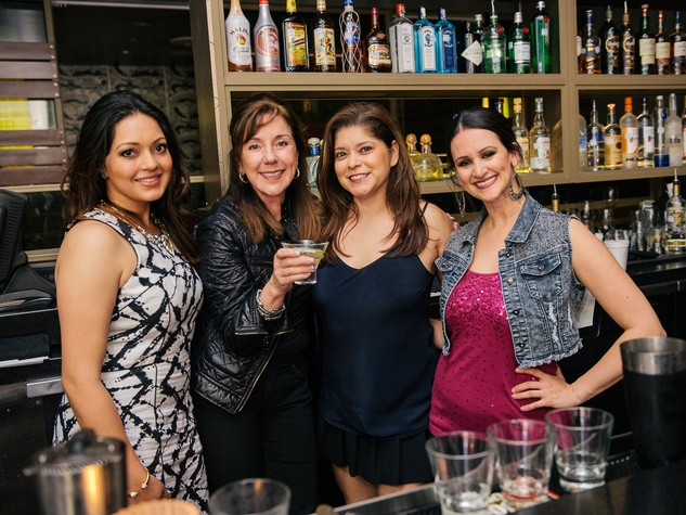 15 Rekha Muddaraj, from left, Elizabeth Stein, Marcy de Luna and Lauren Finkelstein at CityCentre Night Out with CultureMap April 2014