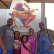 Brook's Place barbecue food truck with chef Trent Brooks, right, and customers