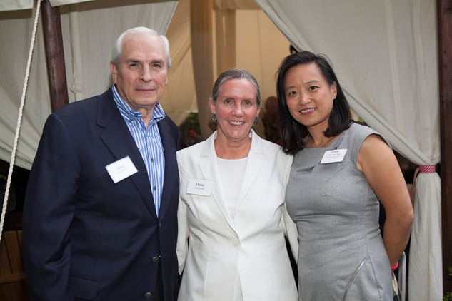 Gene and Dana Powell, from left, with Dr. Lynda Chin at M.D. Anderson in Aspen July 2014