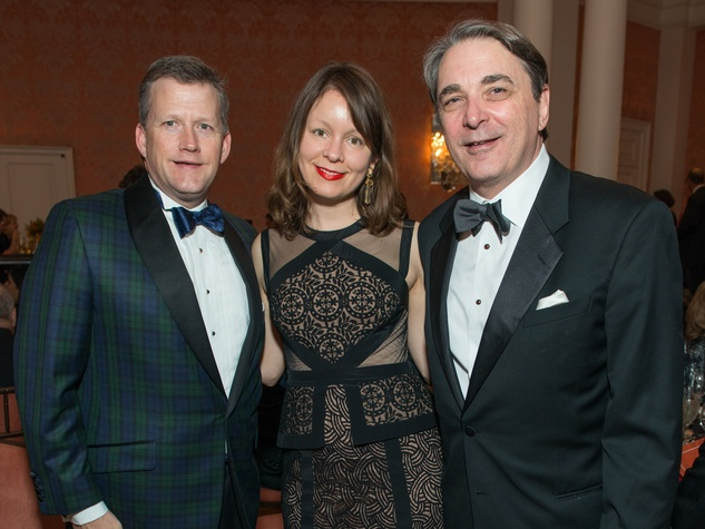 23 Trey Peacock, from left, Kristen Schlemmer and Mark Wauro at the Inprint Ball February 2015