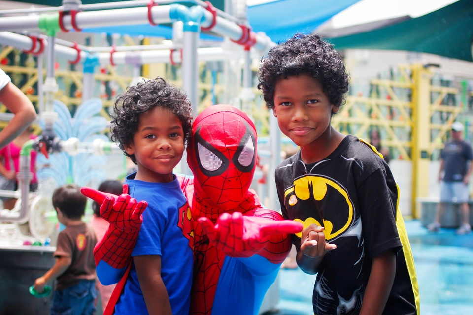 5 Children's Museum with Spiderman Appearance and Silly String Showdown August 2014