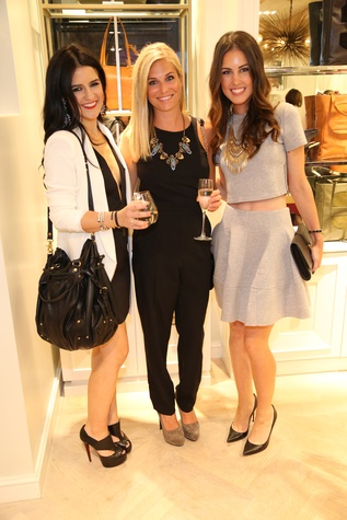 Dallas Bloggers Ellen Flowers of The Perennial Style, Brooke Burnett of One Small Blonde and Kaitlynn McConville of Straight From Kate at Elaine Turner New York Fashion Week launch party September 2014